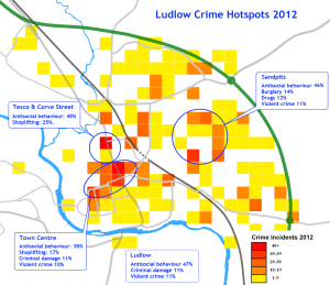 Ludlow Crime Map