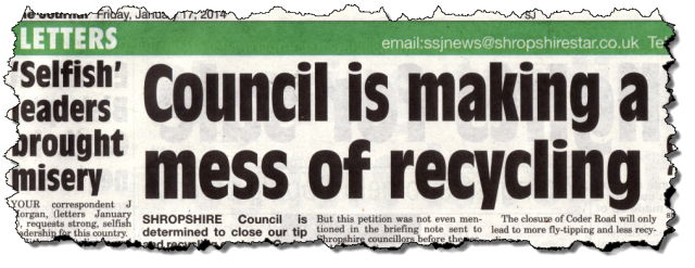 SSJ 17 Jan Council is making a mess of recycling ragged