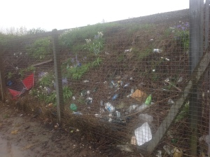 Litter on Network Rail land, Sheet Road
