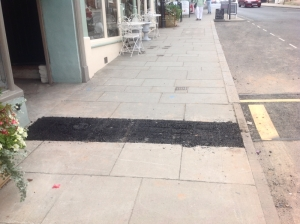 Corve Street Severn Trent debacle pavement patch 1000