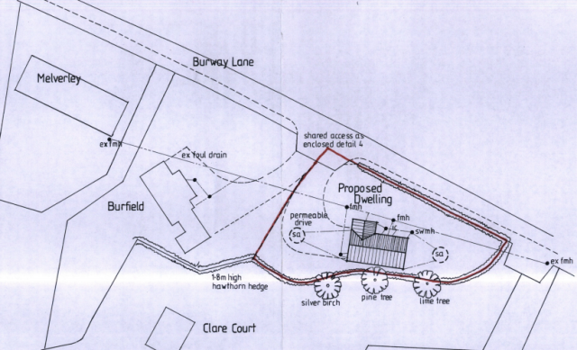 Burfield site plan
